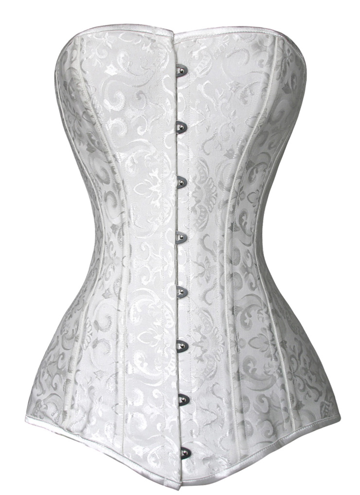 4164e70d5 Long Waist Training Overbust Steel Bone Corset 0133